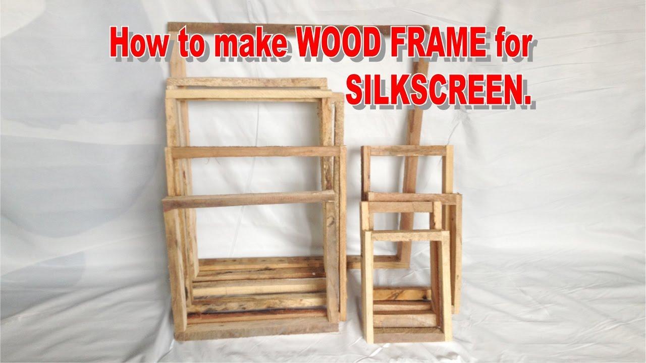 How to make wood frame for silkscreen youtube how to make wood frame for silkscreen jeuxipadfo Choice Image