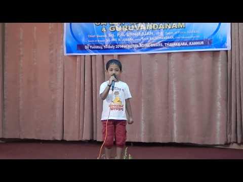 Ghar se nikalte hi song by sreenandan UKG Student from kannur , kerala  CA day celebration(1-7-2014)