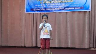 Ghar se nikalte hi song by sreenandan UKG Student from kannur , kerala  CA day celebration(1-7-2014)