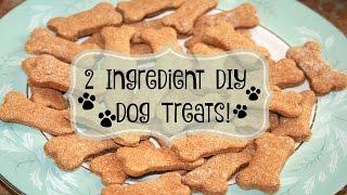 2 INGREDIENT DIY DOG TREATS