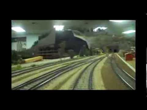 Hennepin Overland HO Model Railway: Engineer's Cab View.  11-Scale Miles of Track!