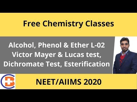 Alcohol, Phenol & Ether L-02 Victor Mayer & Lucas Test, Dichromate Test, Esterification CL-77 😃