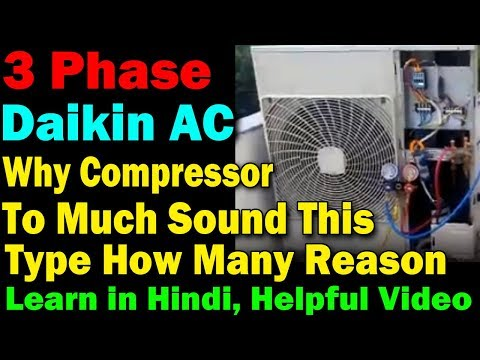 Repeat Daikin ac compressor going high ampere to much noise what's
