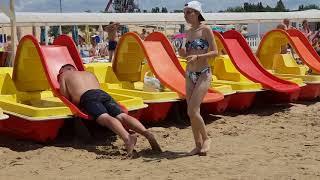 ШТОРМ пляжи Витязево - центральный до Аквамарина обзор 17.07.2018