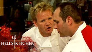 Sweaty Chef Has His Food Returned For Being Too Salty | Hell's Kitchen