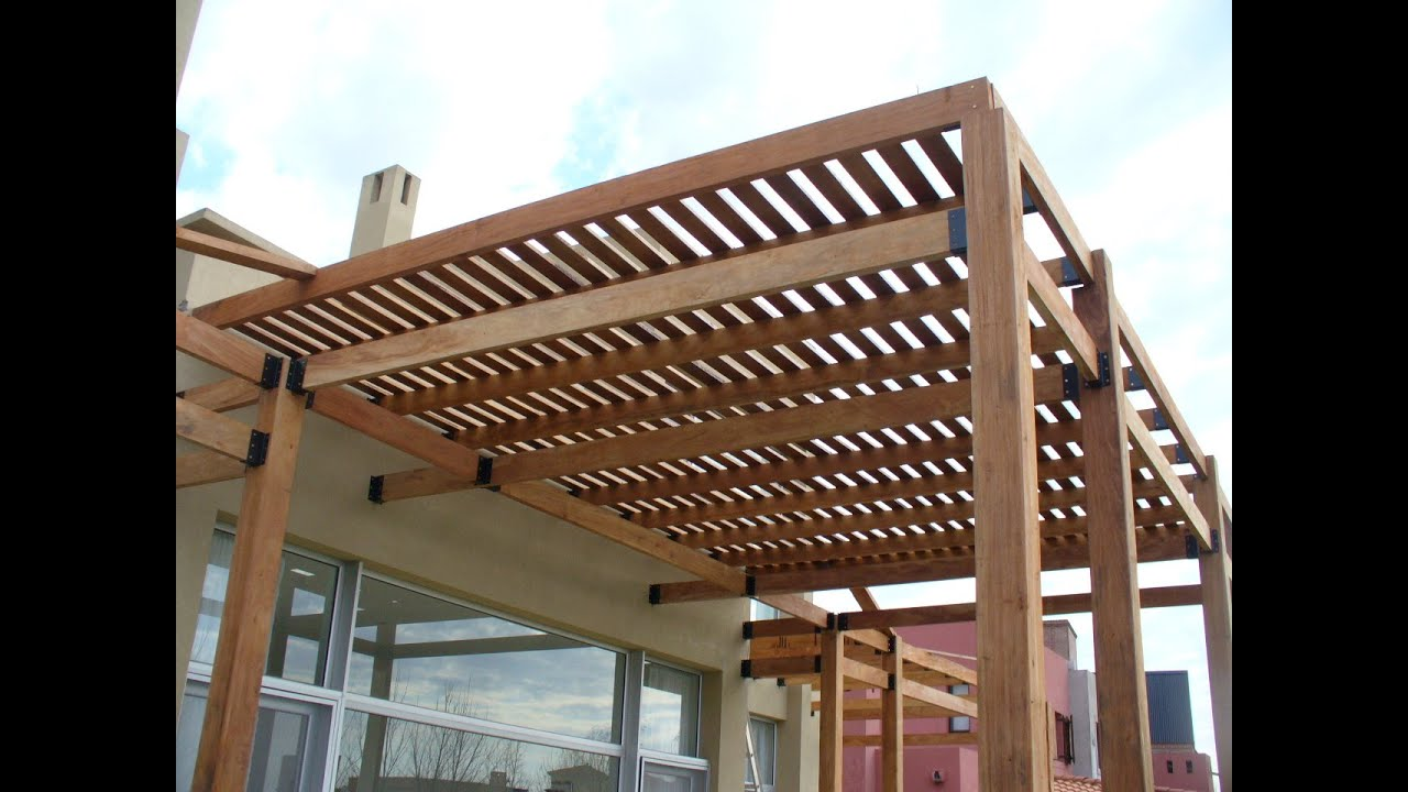 28 wonderful pergolas de madera for Imagenes de muebles de madera