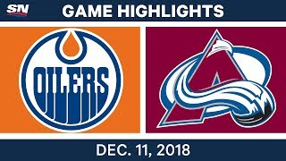 NHL Highlights | Oilers vs. Avalanche - Dec 11, 2018
