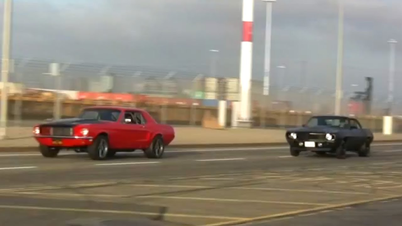Camaro Vs Mustang >> 68 Mustang vs 69 Camaro - YouTube