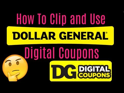 How To Clip And Use Dollar General Digital Coupons!