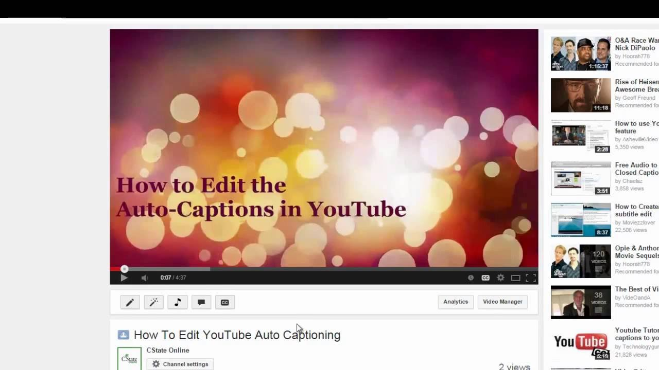 how to edit automatic