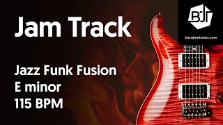 Jazz Funk Fusion Jam Track in E minor 115 BPM