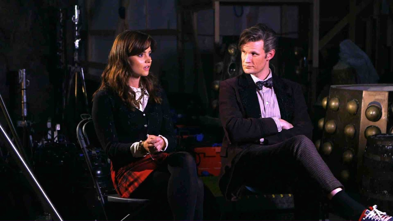 Doctor Who Christmas Special 2013.Matt Smith And Jenna Coleman On The Time Of The Doctor Doctor Who Christmas Special 2013 Bbc One