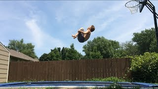 Double front flip tutorial (landed tutorial included)