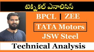Technical analysis of Tata motors, bpcl, zee entertainment, JSW steel టెక్నికల్ ఎనాలిసిస్