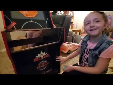 Arcade 1up NBA Jam unboxing from teen wolf tv