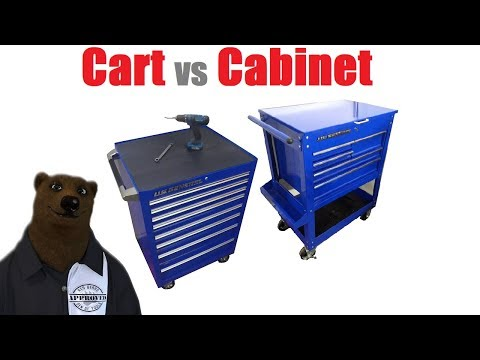 Tool Cabinet vs Tool Cart (Harbor Freight U.S. General Series 2)