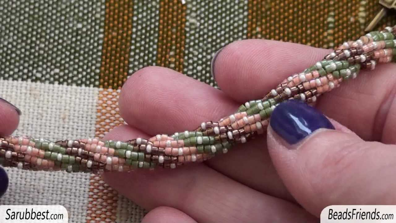 Beadsfriends Beaded Bracelet Triple Spiral Made Using Seed Beads And Delica You