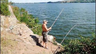 Рыбалка на реке Днепр летом