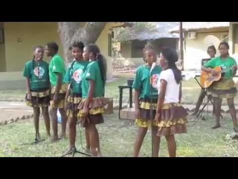 Xibuwewe Music School performing at Gorongosa National Park, Mozambique