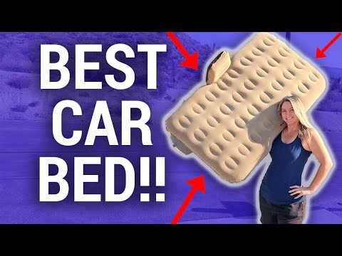BEST Car Air Bed For Sleeping In A Car // Travel Snacks