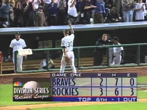 1995 NLDS, Game 1: Braves at Rockies