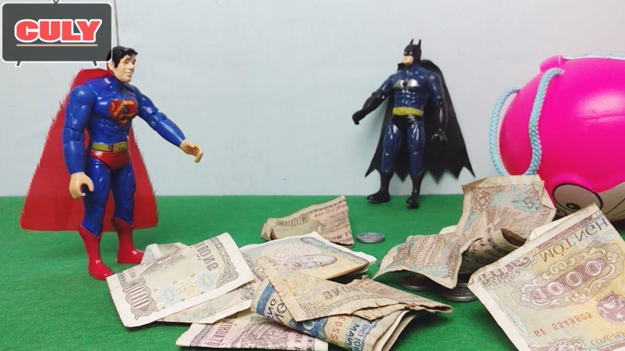 Siêu nhân 2 – Superman và Batman ăn cắp tiền lẻ của Cu lỳ – Siêu anh hùng avengers