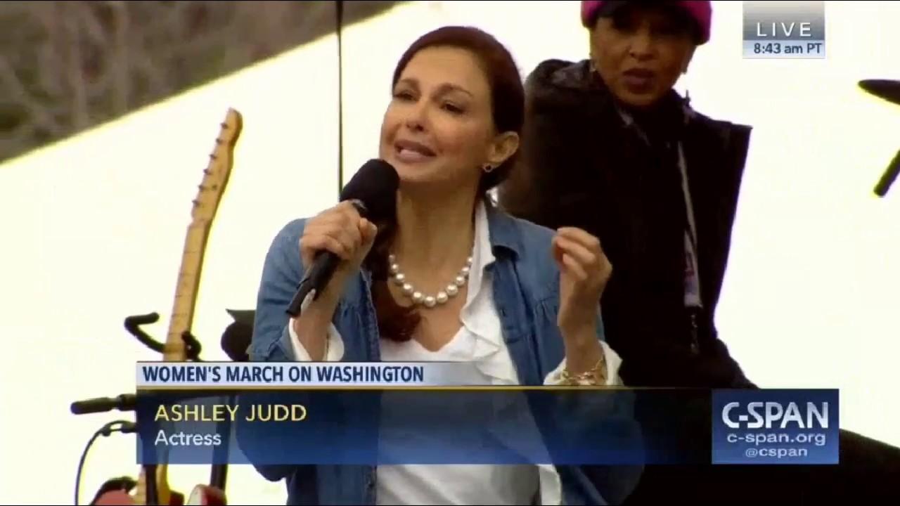 Ashley Judd Cunt i am a nasty woman - ashley judd full speech women's march washington dc