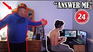 IGNORING MY DAD FOR 24 HOURS...(BAD IDEA)