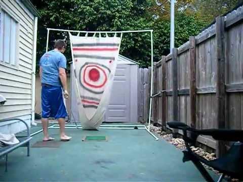 Homemade Driving Range v1 - YouTube