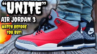 Air Jordan 3 SE UNITE Red Cement REVIEW & ON Feet Watch BEFORE You Buy! WORTH $200?