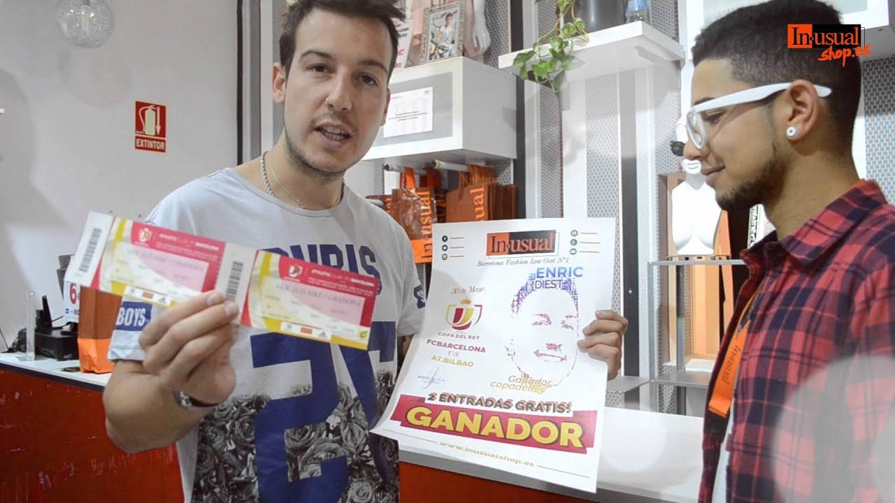 GANADOR 2 ENTRADAS COPA DEL REY - BARCELONA VS AT. BILBAO - Inusual®