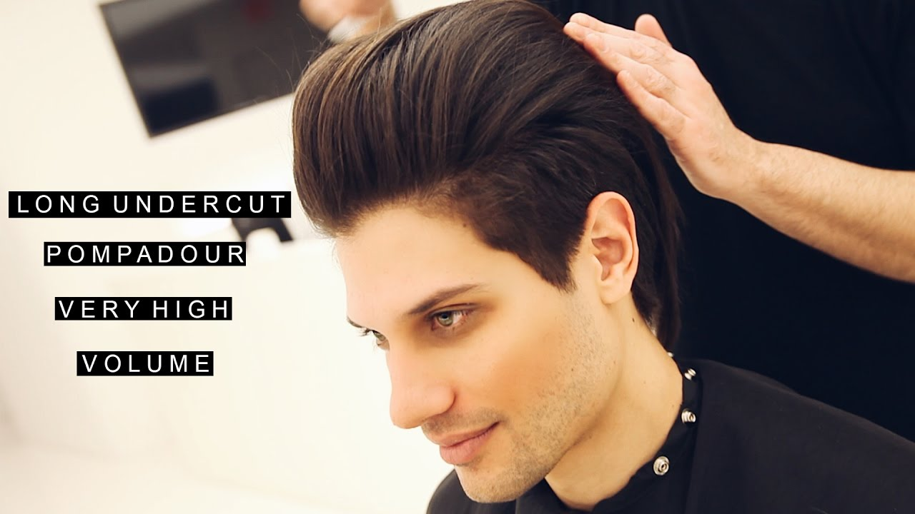 mens haircuts undercut pompadour hairstyle high volume 2333