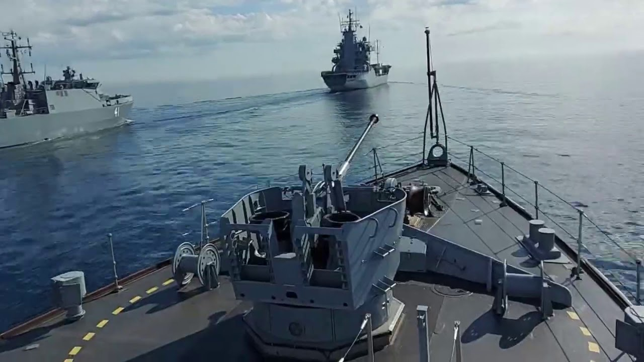Lithuanian Navy Conducts RAS • German/Finnish Navy's • Baltic Sea • BALTOPS 2020
