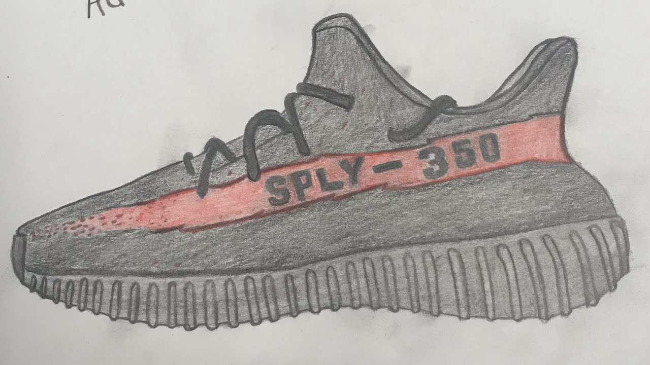 How to draw yeezy boost 350 VERY EASY