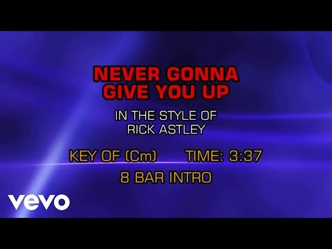 Rick Astley - Never Gonna Give You Up (Backing Track ...