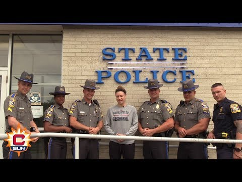 Rachel Banham Visits Connecticut State Police Troop E - Connecticut Sun