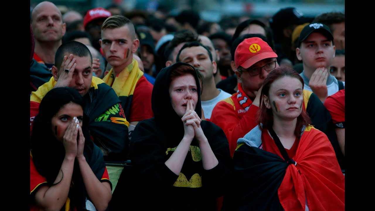 Crying Belgian fans take World Cup semifinal defeat vs France in stride
