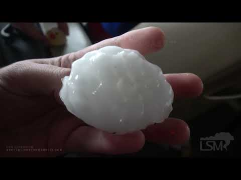 5-20-20 Post, Tx Very Large Hail 2.5 Inch+ Pounds Highway Heavy Rain Gusty Winds Severe Storm