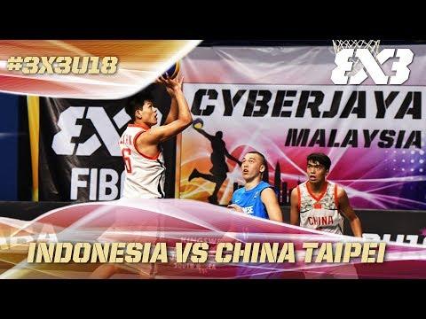 Chinese Taipei rock Indonesia! - Full Game - Asia Cup U18 - FIBA 3x3