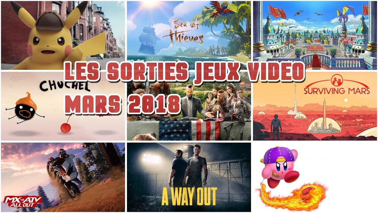 les sorties jeux video mars 2018 en moins de 2 minutes youtube. Black Bedroom Furniture Sets. Home Design Ideas