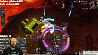 Bajheera - FROST DK 1v4 OBJECTIVE DEFENSE - WoW Legion 7.3 Death Knight PvP