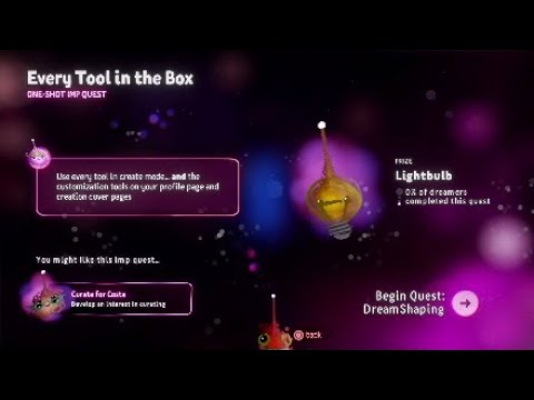 Dreams PS4 - How To Get The All Tools Are Mine Trophy / Every Tool In The Box Trophy