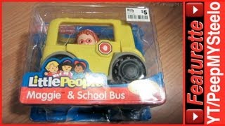Fisher Price Yellow School Bus Toys For Toddlers From The Little People Learning Toy Series
