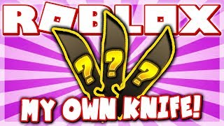 I HAVE MY OWN KNIFE IN MURDER MYSTERY 3!! (Roblox Murder Mystery X)