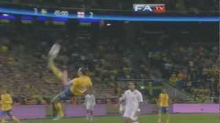 zlatan ibrahimovic goal vs england 4 2   amazing 30 yard bicycle kick