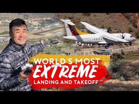 World's Most Extreme Plane Landing and Takeoff - Paro Airport