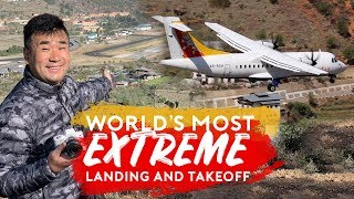 world-s-most-extreme-plane-landing-and-takeoff-paro-airport