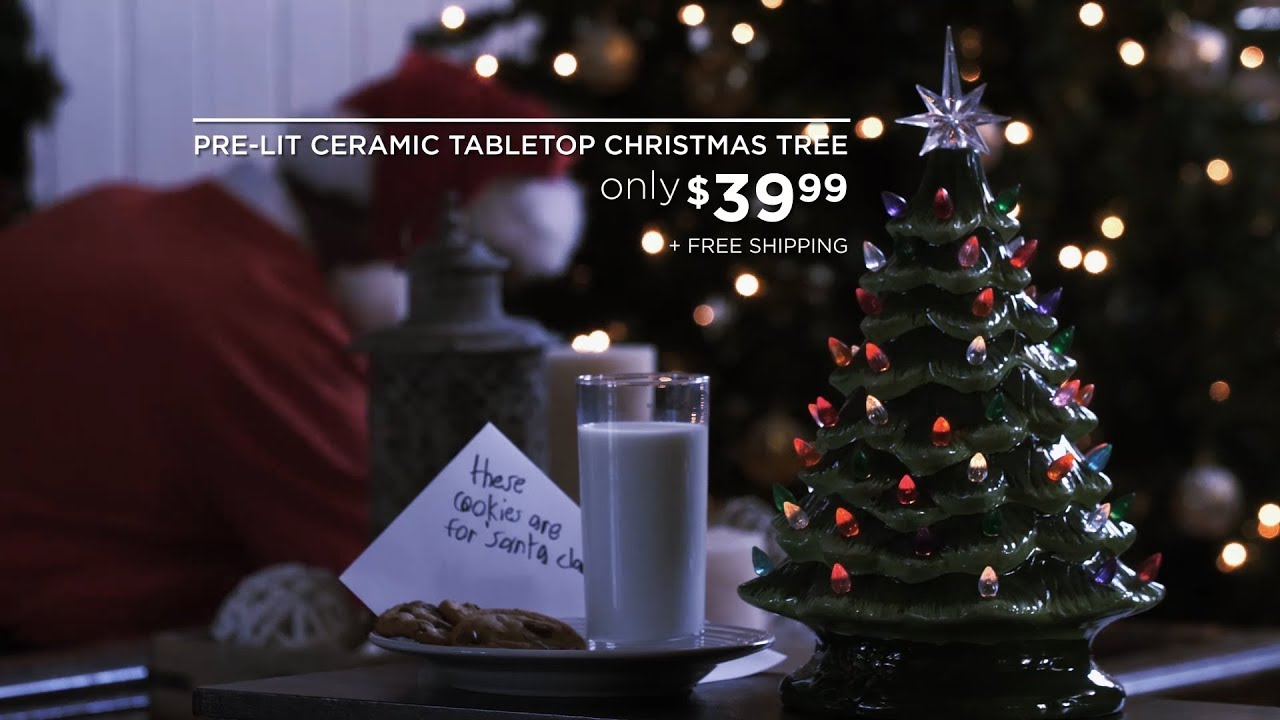 best choice products pre lit ceramic tabletop christmas tree