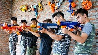 Hihahe Nerf War: SWAT & Special Unit Nerf Guns Assassins vs Hero Girl Nerf War