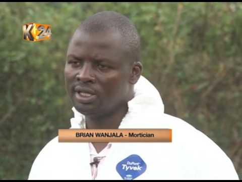 Unsung Heroes:Meet  Brian Wanjala, a Mortician that takes pride in his work.